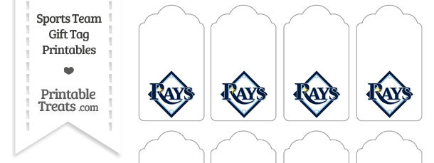 Tampa Bay Rays Gift Tags