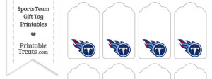 Tennessee Titans Gift Tags