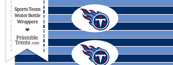 Tennessee Titans Water Bottle Wrappers