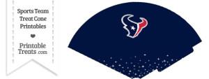 Texans Treat Cone Printable
