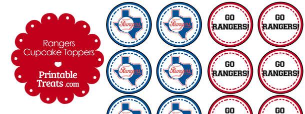 photo regarding Texas Rangers Schedule Printable titled Texas Rangers Cupcake Toppers Printable