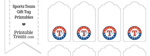 Texas Rangers Gift Tags