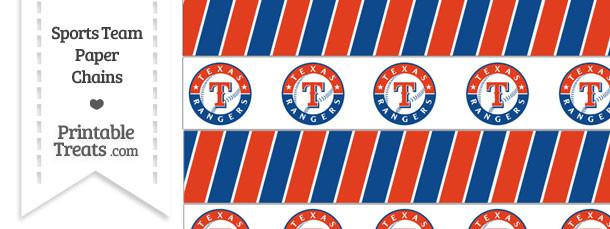 Texas Rangers Paper Chains