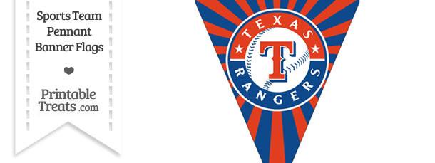 Texas Rangers Pennant Banner Flag
