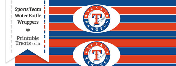 picture about Texas Rangers Schedule Printable named Texas Rangers Drinking water Bottle Wrappers Printable
