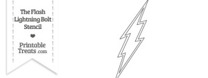 The Flash Lightning Bolt Stencil