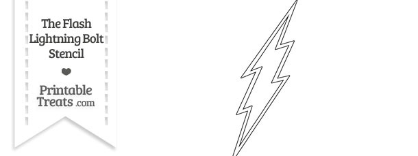 The Flash Lightning Bolt Stencil Printable Treats