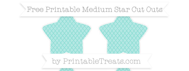 Tiffany Blue Moroccan Tile Medium Star Cut Outs