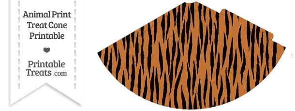 Tiger Print Party Cone