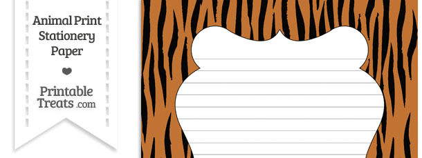 Tiger Print Stationery Paper