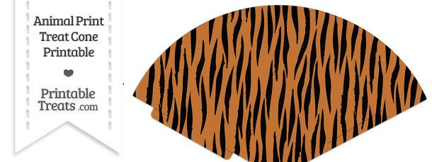 Tiger Print Treat Cone