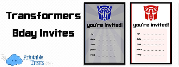 printable transformers birthday party invitations  printable, Birthday invitations
