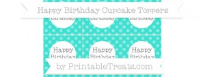 free-turquoise-dotted-pattern-happy-birthday-cupcake-toppers-to-print