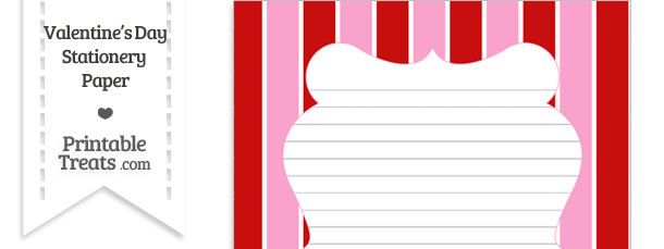 Valentines Day Stationery Paper