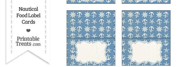Vintage Blue Nautical Food Labels