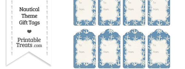Vintage Blue Nautical Gift Tags