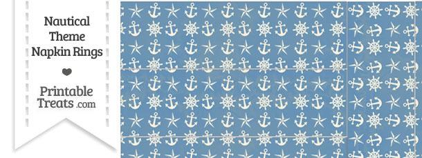 Vintage Blue Nautical Napkin Rings