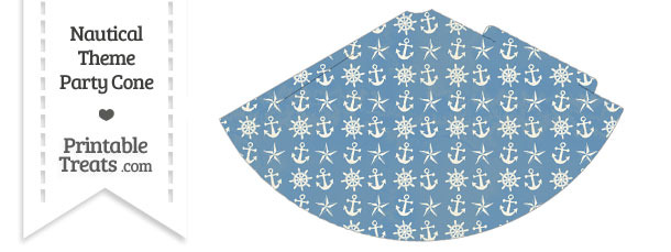 Vintage Blue Nautical Party Cone