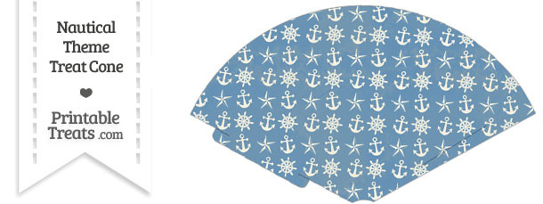 Vintage Blue Nautical Treat Cone