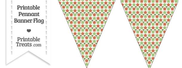 Vintage Christmas Stars Pennant Banner Flag