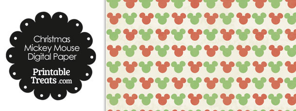 Mickey Mouse Christmas Scrapbook Paper Mickey Mouse Scrapbook