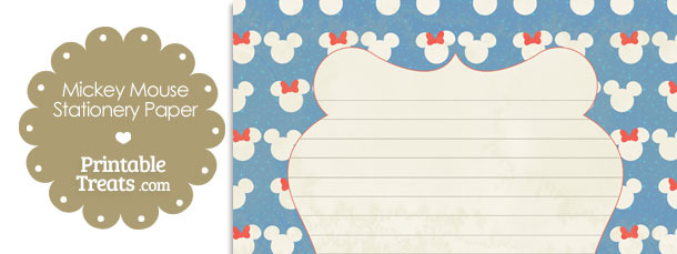 Vintage Minnie and Mickey Snow Theme Stationery Paper