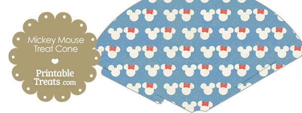 Vintage Minnie and Mickey Snow Theme Treat Cone