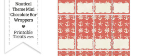 Vintage Red Nautical Mini Chocolate Bar Wrappers