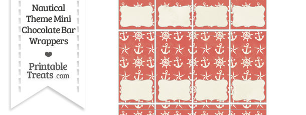 Vintage Red Nautical Mini Chocolate Bar Wrappers ...