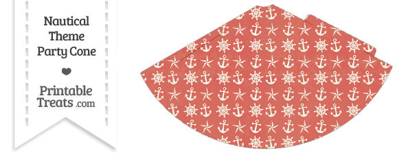Vintage Red Nautical Party Cone