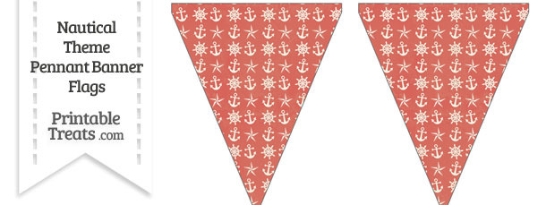Vintage Red Nautical Pennant Banner Flag
