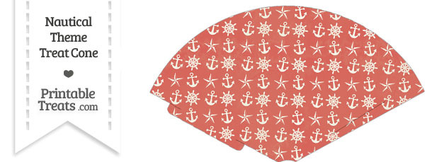 Vintage Red Nautical Treat Cone