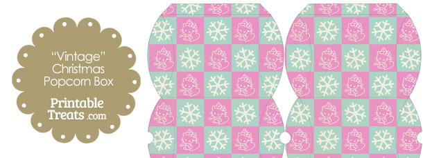 Vintage Small Hello Kitty Christmas Checkered Pillow Box