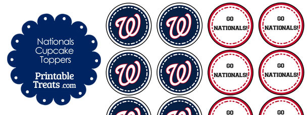 Washington Nationals Cupcake Toppers