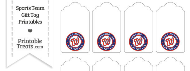 Washington Nationals Gift Tags