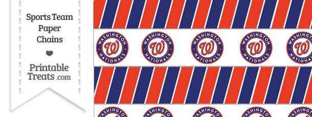 Washington Nationals Paper Chains