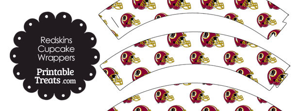 Washington Redskins Football Helmet Cupcake Wrappers