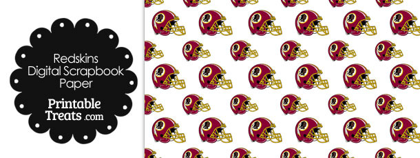 Washington Redskins Football Helmet Digital Paper