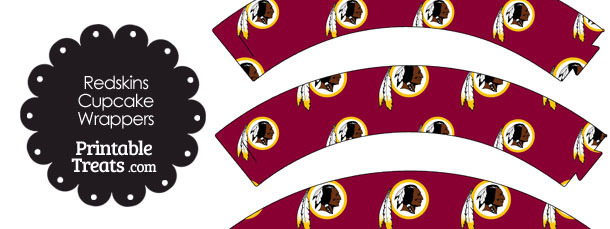 Washington Redskins Logo Cupcake Wrappers