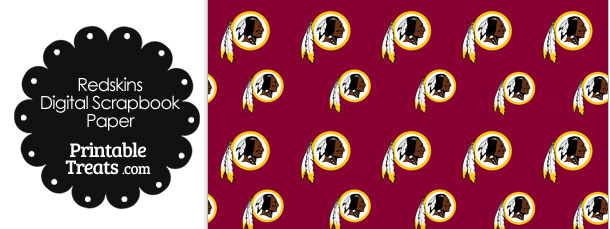 Washington Redskins Logo Digital Paper Printable Treats Com