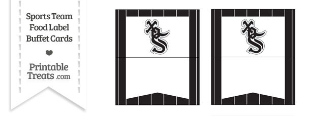 White Sox Food Label Buffet Cards
