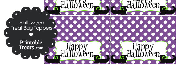 Witch Shoes Treat Bag Toppers