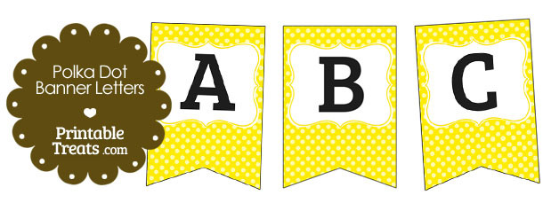 free-yellow-polka-dot-banner-letters