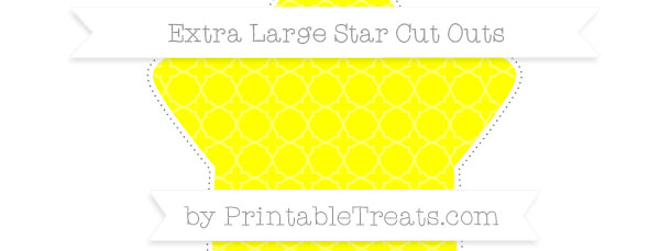 ... Pattern+To+Cut+Out free-yellow-quatrefoil-pattern-extra-large-star-cut