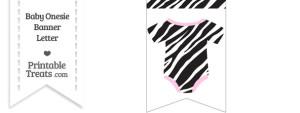 Zebra Print Baby Onesie Bunting Banner Blank Spacer Flag