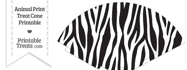Zebra Print Treat Cone