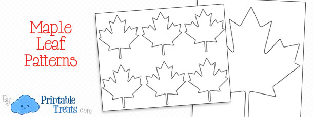 Free Printable Maple Leaf Pattern Printable Treats Gorgeous Maple Leaf Pattern