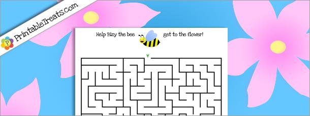 printable-bee-maze