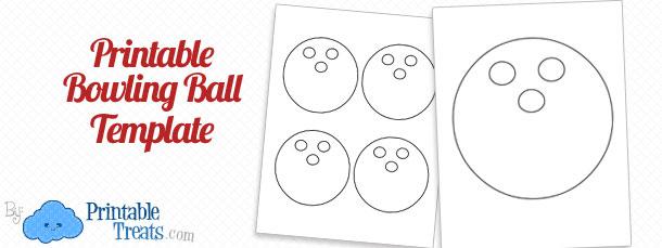 Free Printable Bowling Ball Template — Printable Treats.com