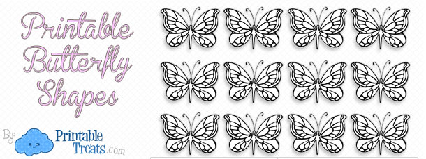 Printable Butterfly Shapes Printable